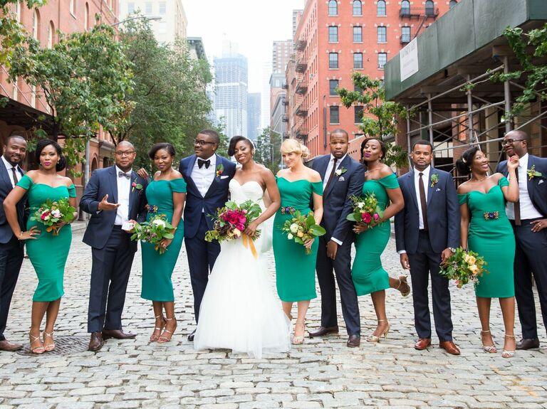 Bridesmaid updo retro bun