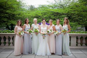 Pastel Amsale Bridesmaid Dresses