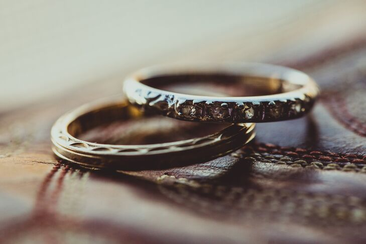 Thin Silver Traditional Wedding Rings