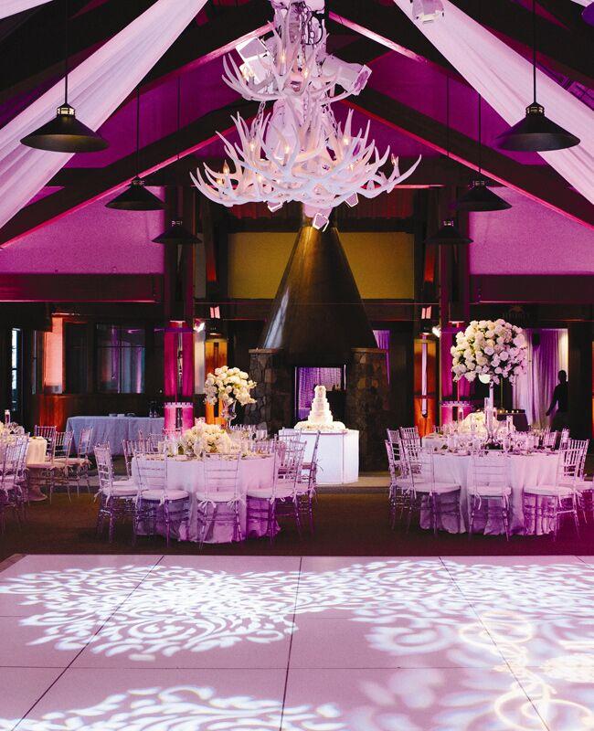 Antler Chandelier Wedding Decor | James Christianson Photography | Blog.TheKnot.com