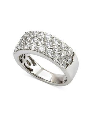 Macy's Fine Jewelry Certified Diamond Three-Row Band (2 ct. t.w.) in 18k White Gold White Gold Wedding Ring