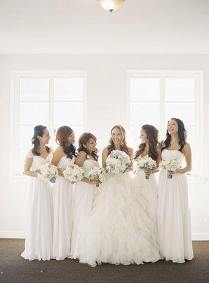 Custom White Bridesmaid Dresses