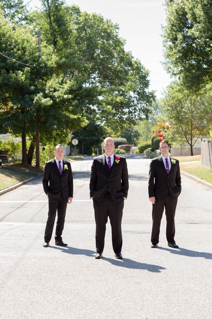 Traditional Black Groomsmen Suits