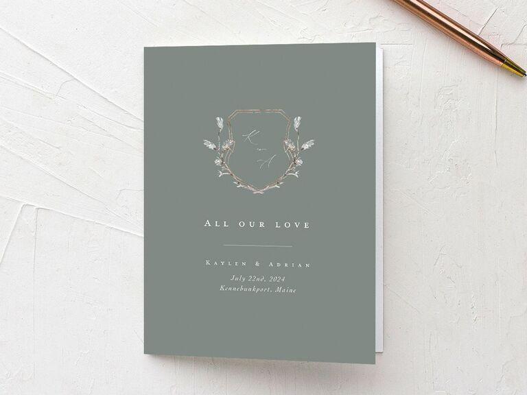 vintage wedding thank-you card