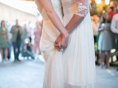 Two brides and their first dance