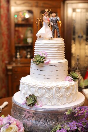 Whimsical Wedding Cake With Aspen Motif