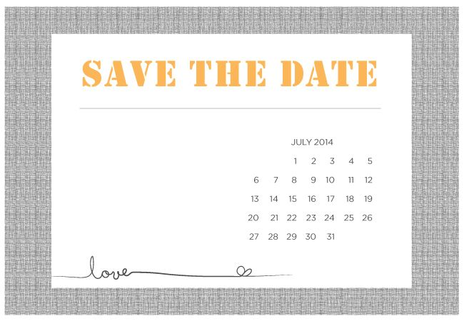 photograph about Free Printable Save the Date Templates identified as 4 Printable Do it yourself Help save-The-Day Templates