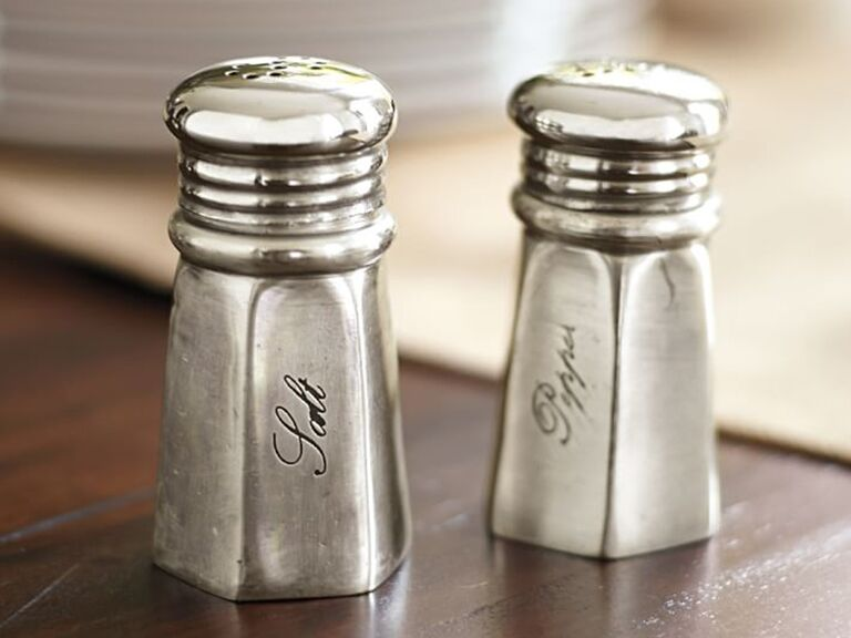 Silver salt and pepper shaker 16th anniversary gifts