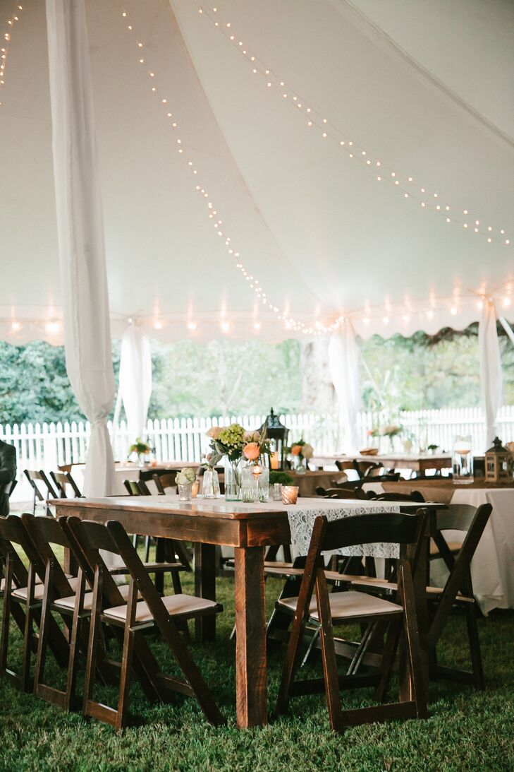 Tented Family Estate Reception in Historic Madison