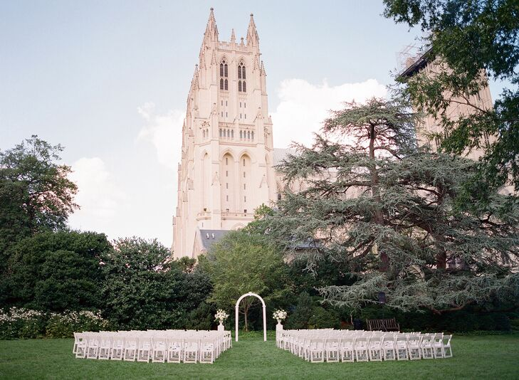 Ceremony Outside the Washington National Cathedral in Washington, DC