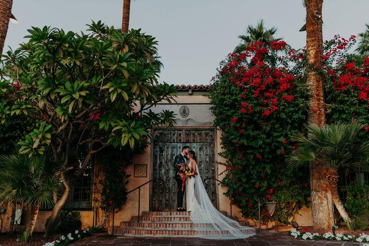 Bride and Groom Portraits at Scottsdale, Arizona, Wedding