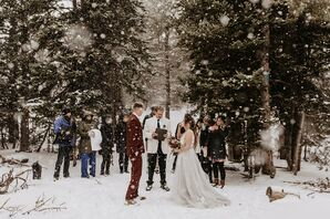 Snowy Elopement in Ward, Colorado