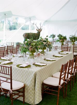 Ivy-Covered Moose Reception Decor