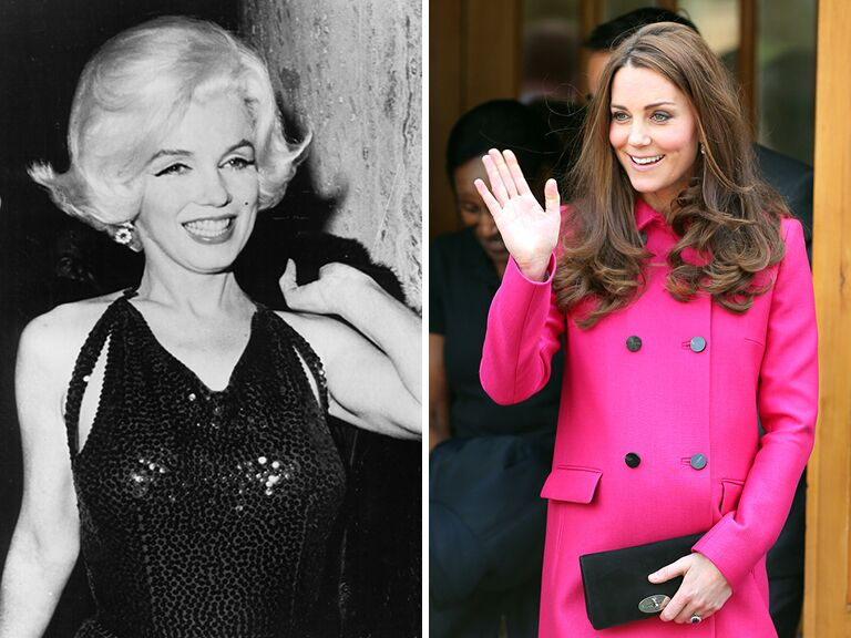 Marilyn Monroe and Kate Middleton
