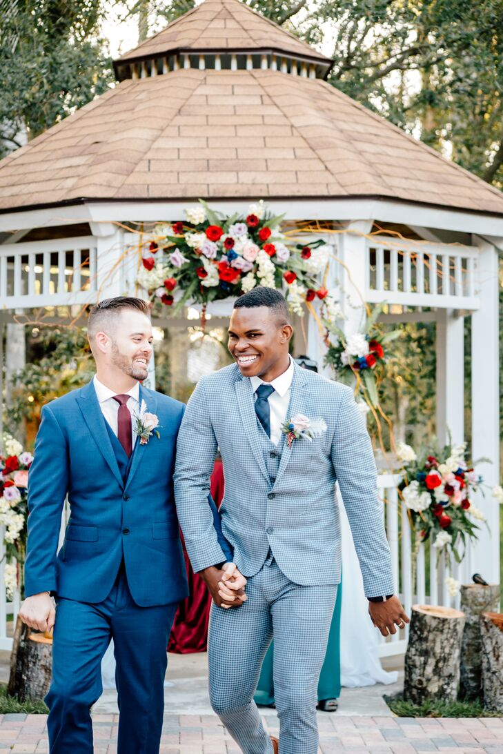 Couple Recessing at Richardson Historic Park in Wilton Manors, Florida