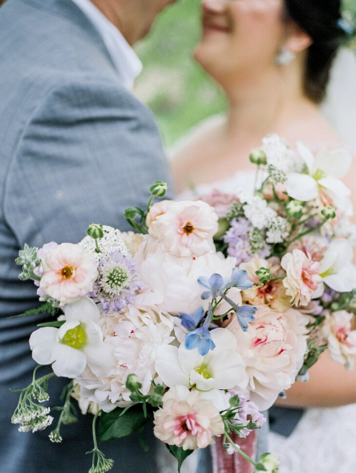Soft Pastel Bouquet for Ohio Wedding