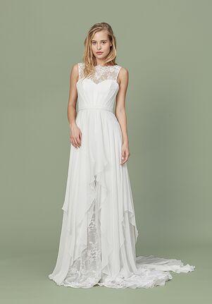 Christos Clover Sheath Wedding Dress