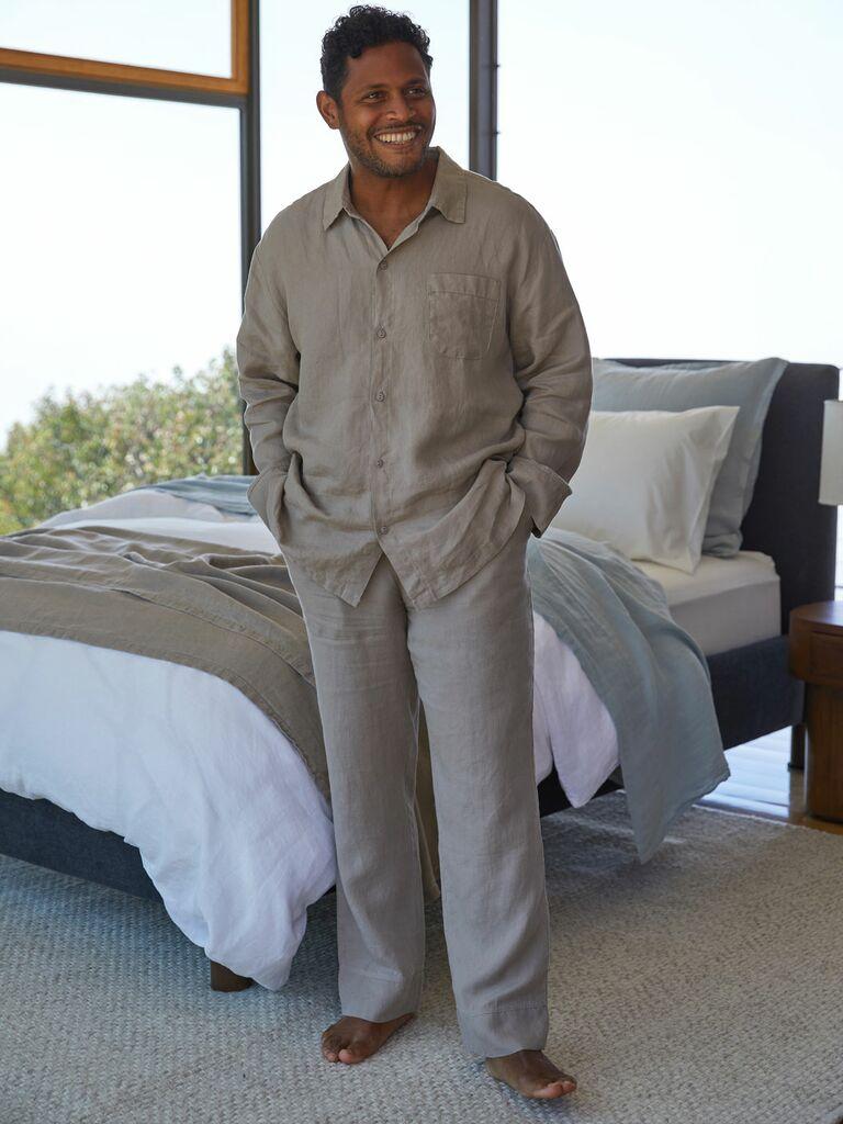 linen mens loungewear