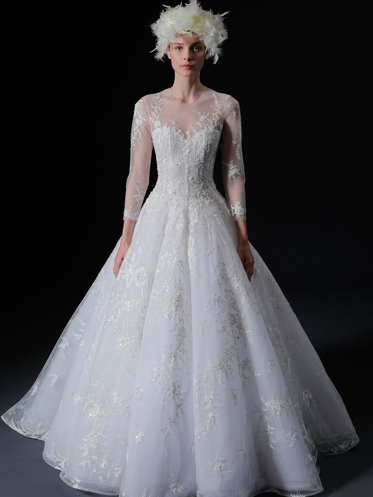 Isabelle Armstrong Spring 2020 Bridal Collection lace long-sleeve wedding dress