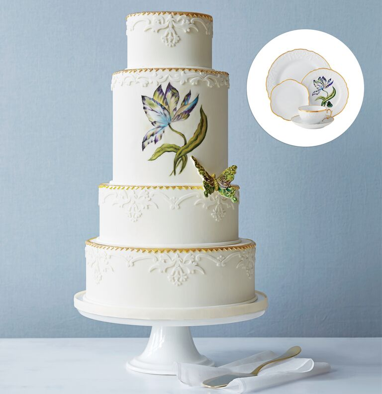 Wedding Cakes Inspired By China Patterns: Elegant Cake Ideas Inspired By Your Wedding China