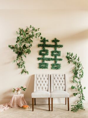 Chinese-Inspired Greenery Décor