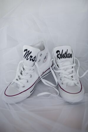 Monogrammed White Converse Sneakers
