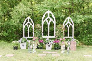 DIY Church Window Frames