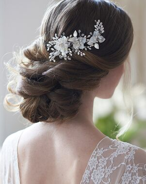 USABride Maisie Floral Hair Clip (TC-2400) Gold, Silver Pins, Combs + Clip