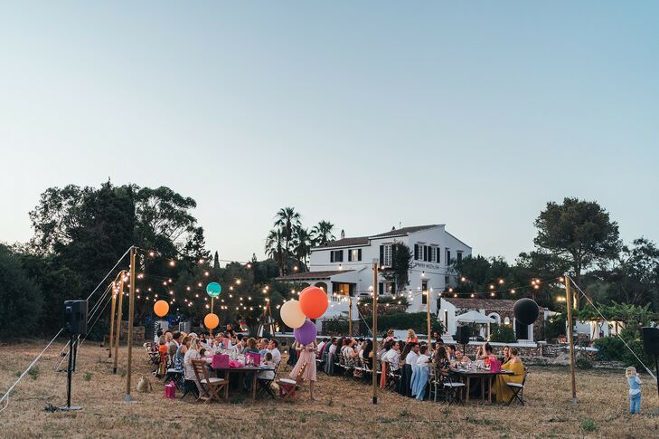 Reception in a Field With Balloons in Menorca, Spain