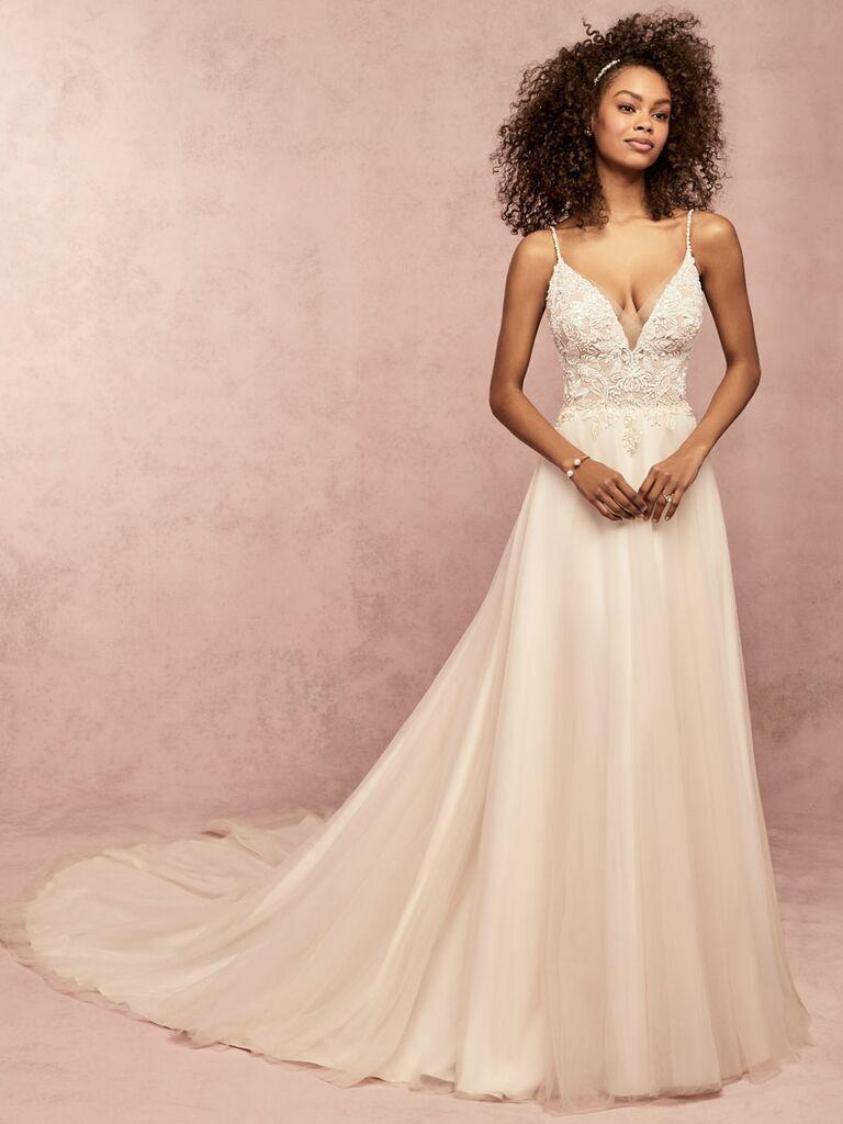 Rebecca Ingram Spring 2019 wedding dress with lace detailing