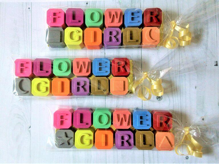 Flower girl crayons