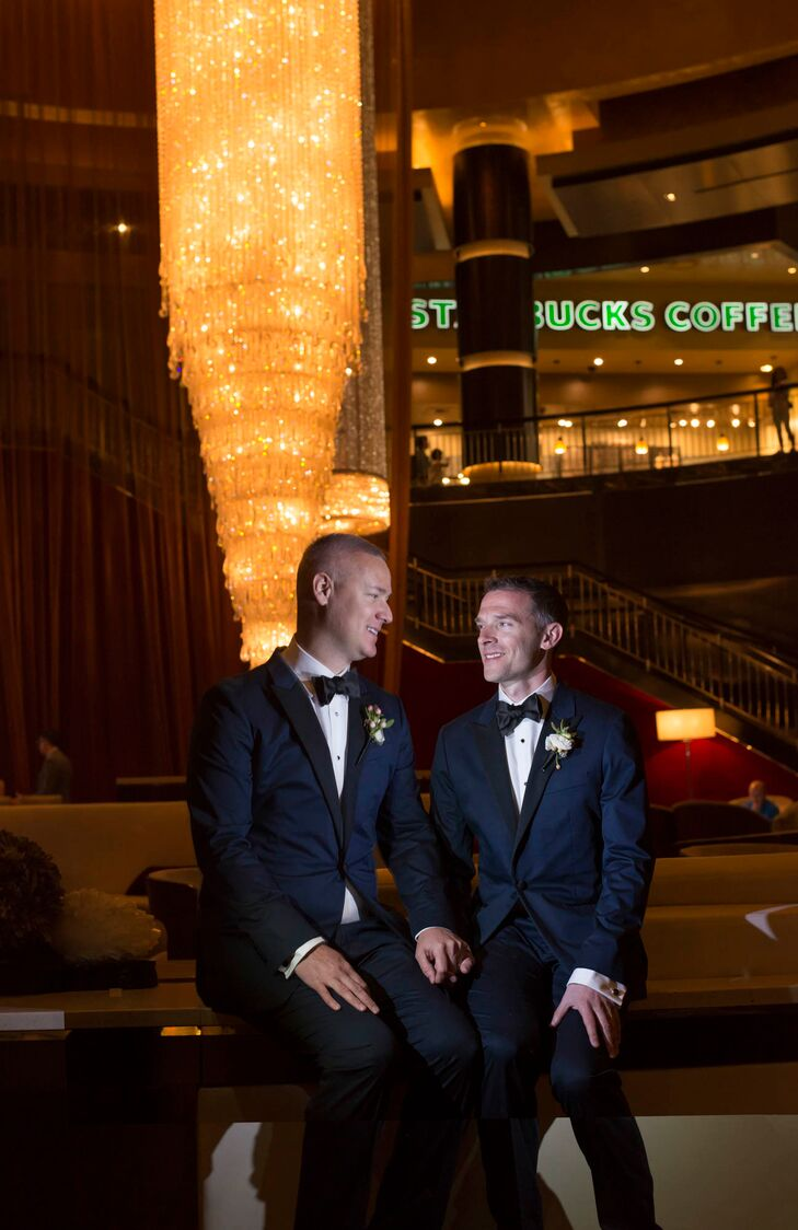 """""""We were plaintiffs in the case for marriage equality in the state of Nevada,"""" the couple say. """"We always said we wanted to get married but would only do it once it was legal. So as soon as it was, the wedding planning began."""""""