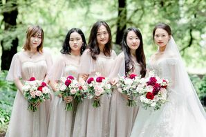 Bridesmaids for Wedding at the University of Illinois