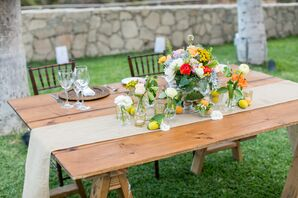 Fresh-Fruit Floral Arrangement Centerpieces