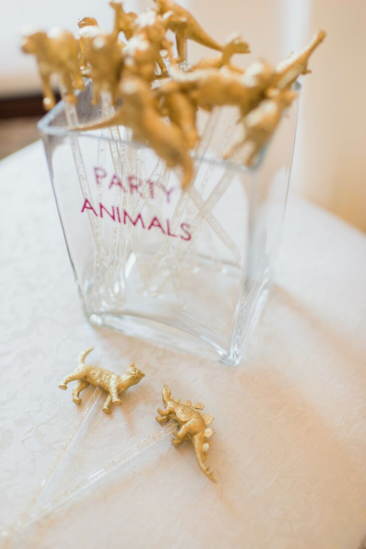 Gold Party Animal Cocktail Swizzle Sticks