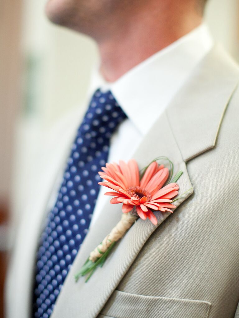 Living Coral Boutonniere