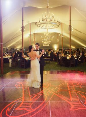 Dance Floor with Graphic Orange Monogram