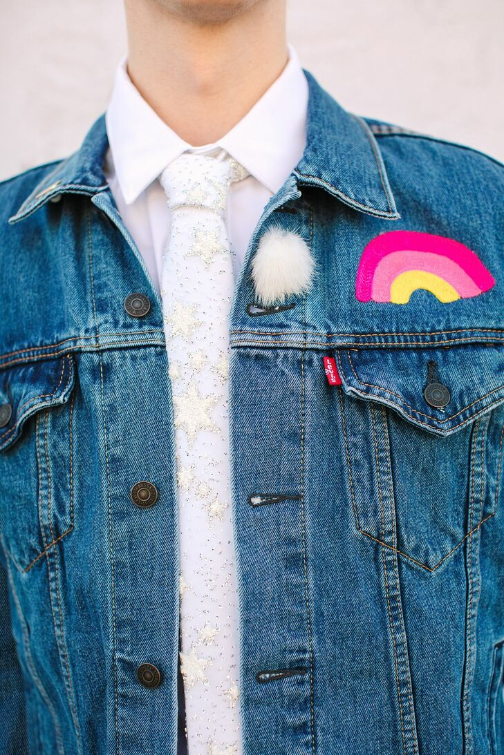 Denim Jacket for Wedding at the Unique Space in Los Angeles, California