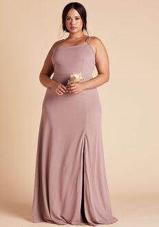 Birdy Grey Benny Crepe Dress Curve in Dark Mauve Scoop Bridesmaid Dress