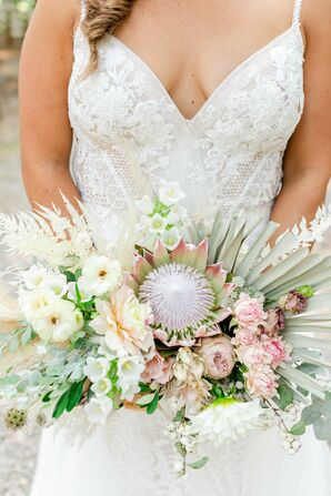 Protea Bouquet for Wedding at Saddle Wood Farms in Murfreesboro, Tennessee