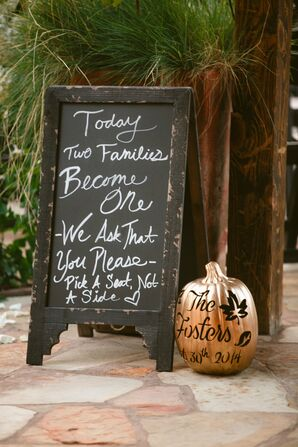 DIY Chalkboard Wedding Ceremony Welcome Sign