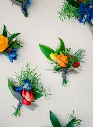 Colorful Boutonnieres for Wedding in Colorado
