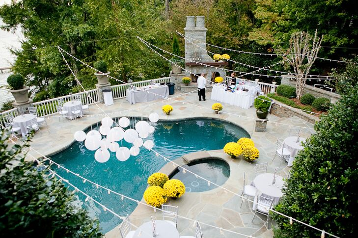 Elegant Poolside Backyard Reception