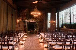 Romantic Pillar Candle-Lined Aisle