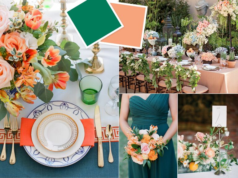 Fuschia And Orange Wedding Invitations: 10 New Color Combos You'll Love
