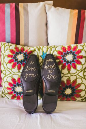 'I Love You From Head to Toe' Shoe Calligraphy