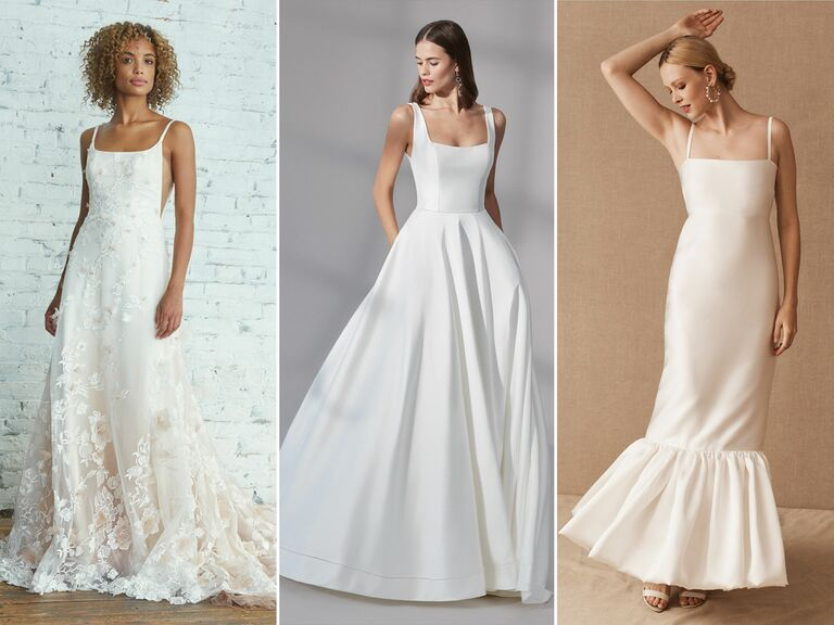 wedding dresses with square necklines