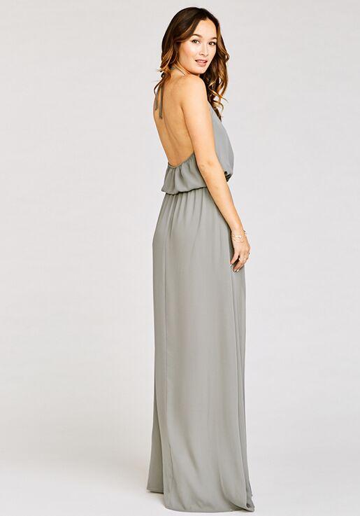 0df5a519b62 Show Me Your Mumu Heather Halter Dress - Soft Charcoal Crisp Halter  Bridesmaid Dress