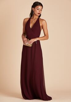 Birdy Grey Moni Convertible Dress in Cabernet Halter Bridesmaid Dress