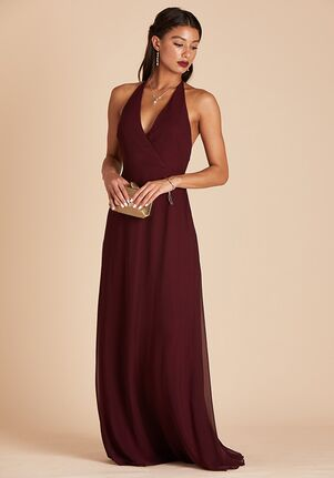 Birdy Grey Moni Convertible Dress in Cabernet Halter Bridesmaid Dress